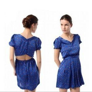 Anthropologie   Reformed blue printed floral dress
